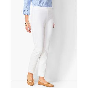 Talbots White Chatham Ankle Pants 10P